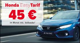 """Die neue Civic Limousine – """"easy"""" versichert für nur 45€ monatlich inkl. Vollkasko*"""
