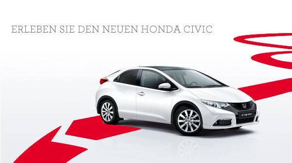 Erleben Sie jetzt den neuen Honda CIVIC.